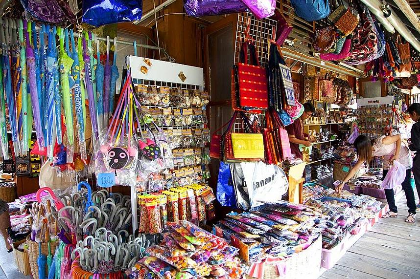 Amazing display of colorful items at Pattaya Floating Market