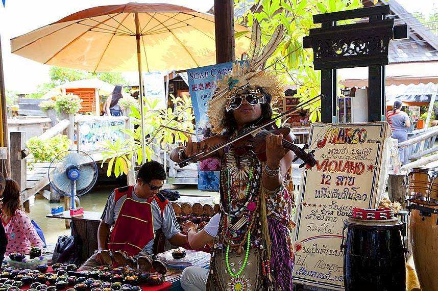 Traditional items for sell at Floating Market Pattaya