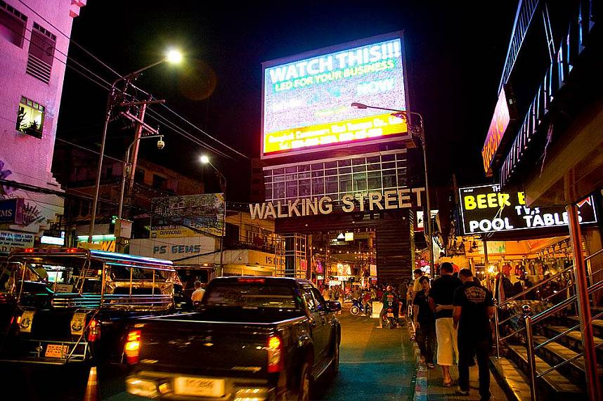 Welcome to the infamous Pattaya Walking Street