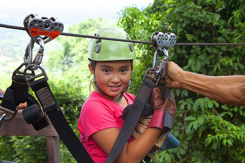 Great adventure experience for the kids at Canopy Adventures Cable Ride Pattaya