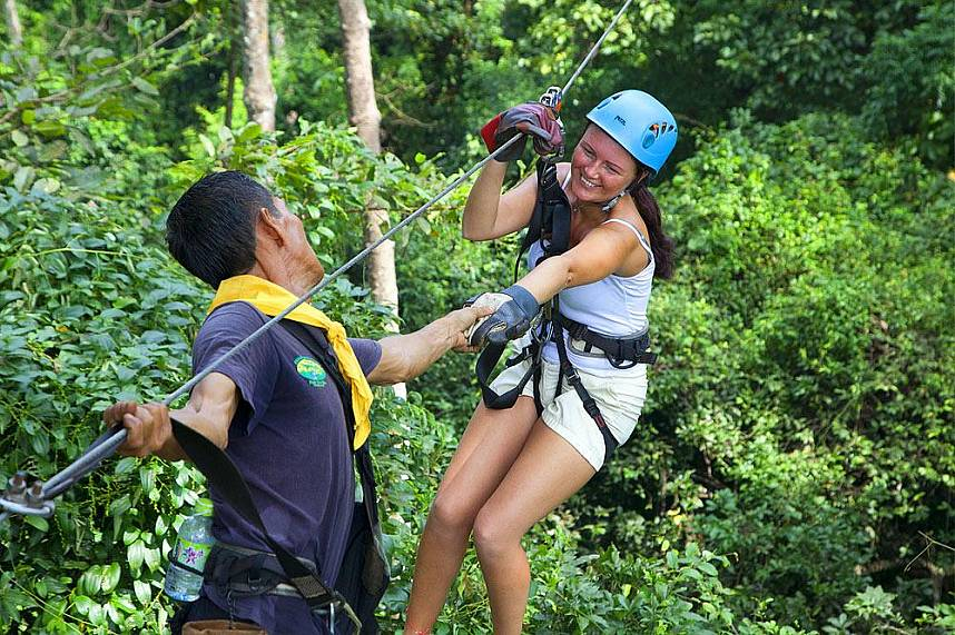 What a fantastic holiday experience at Canopy Adventures Cable Ride Pattaya