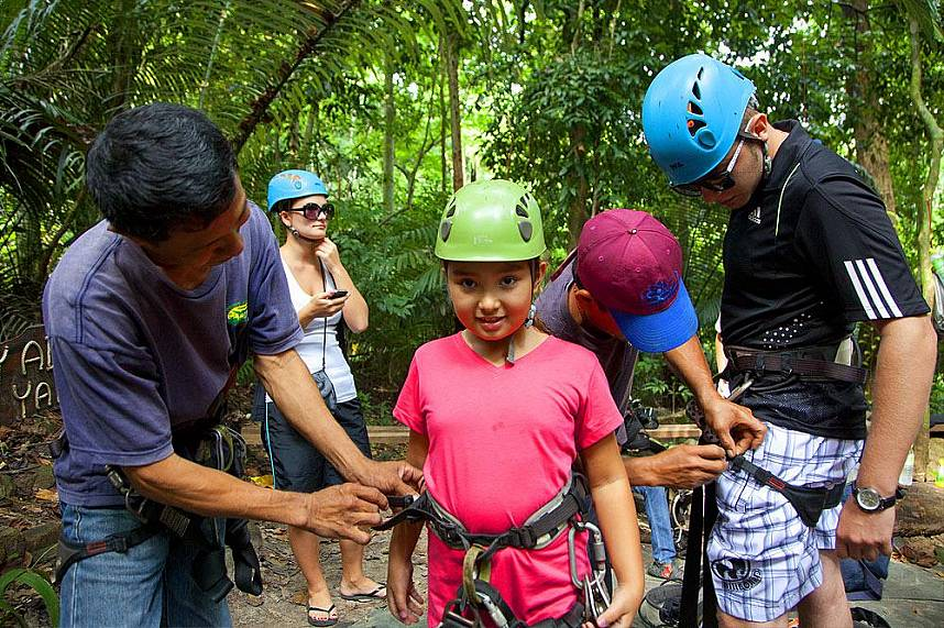 All the safety precautions are applied at Canopy Adventures Cable Ride Pattaya