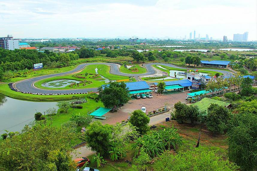 Go-Kart circuit at Pattaya Bungy Jump attraction site