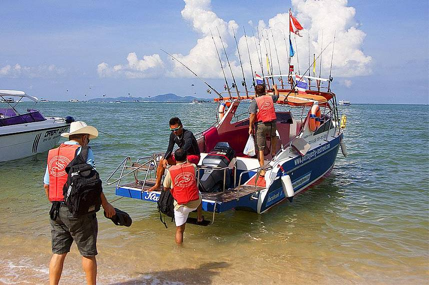 Fishing tour around Pattaya - Koh Larn Gulf of Siam Pattaya