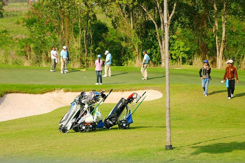 Superb prepared golf course at Siam Country Club Golf Pattaya