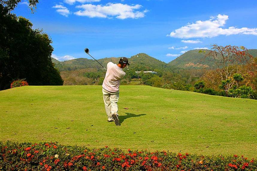 Amazing natural scenery at Plutaluang Thai Navy Golf Club near Pattaya