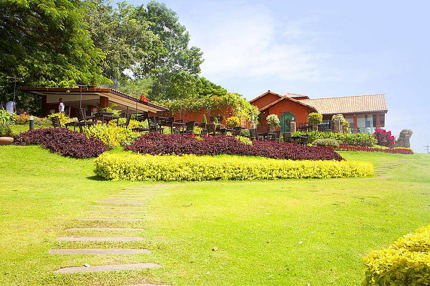 Beautiful gardens at Silverlake Vineyard Pattaya