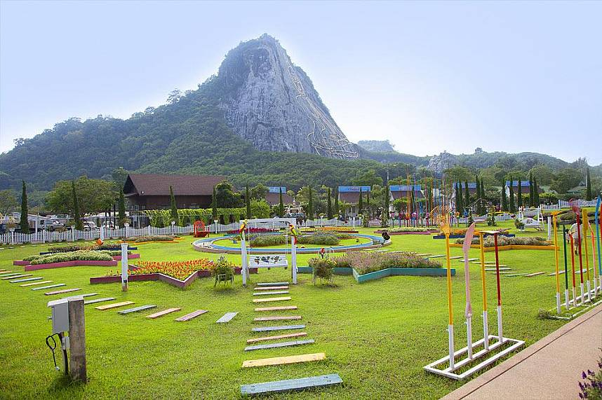 Silverlake Vineyard Pattaya is close by the Big Buddha Mountain
