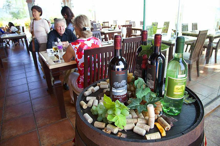 Taste some of the regions fine wines at Silverlake Vineyard Pattaya