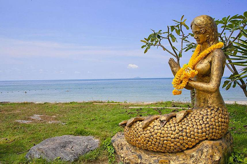 A mermaid awaits you atSai Kaew Beach Sattahip Pattaya -