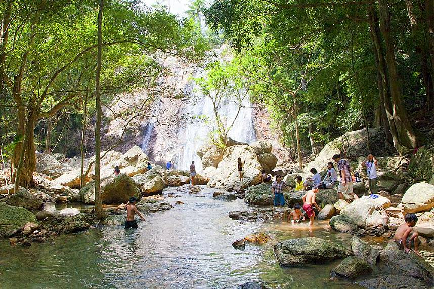 A fantastic jungle experience at Na Muang Waterfall Koh Samui