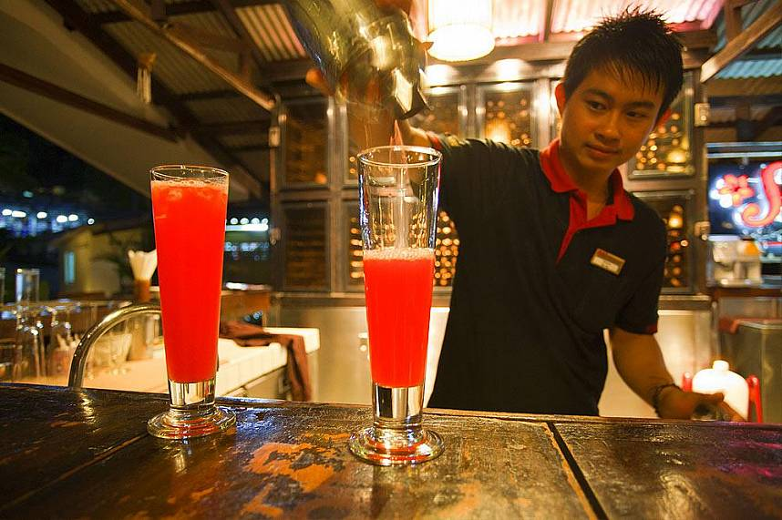Great cocktails at Secret Cliff Restaurant Phuket