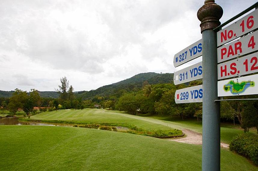 Phuket Country Club Golf Course offers a challenging golf course