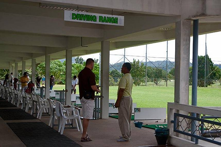 Well prepared driving range at Phuket Country Club Golf Course