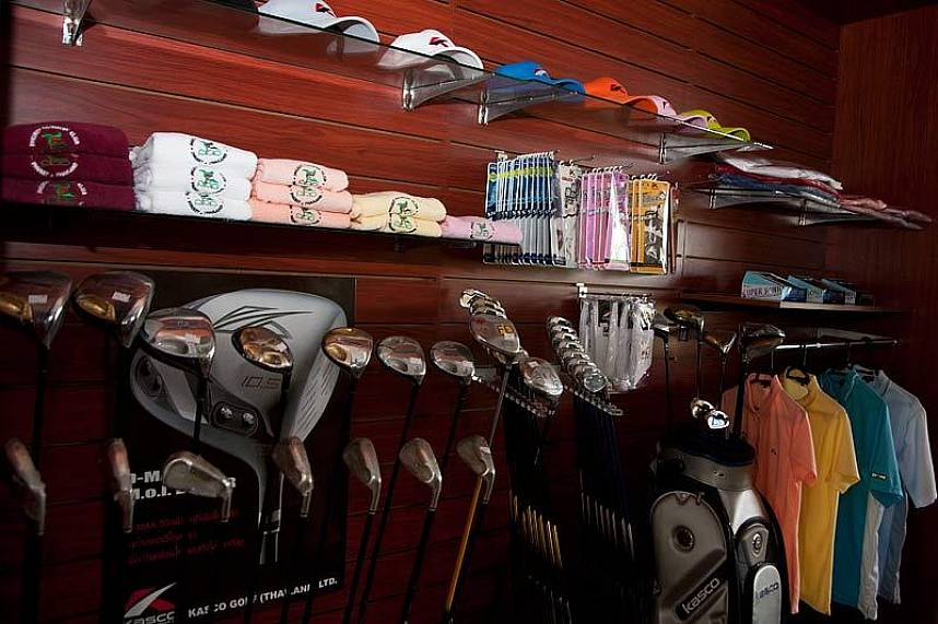 the Pro shop Phuket Country Club Golf Course is well stocked
