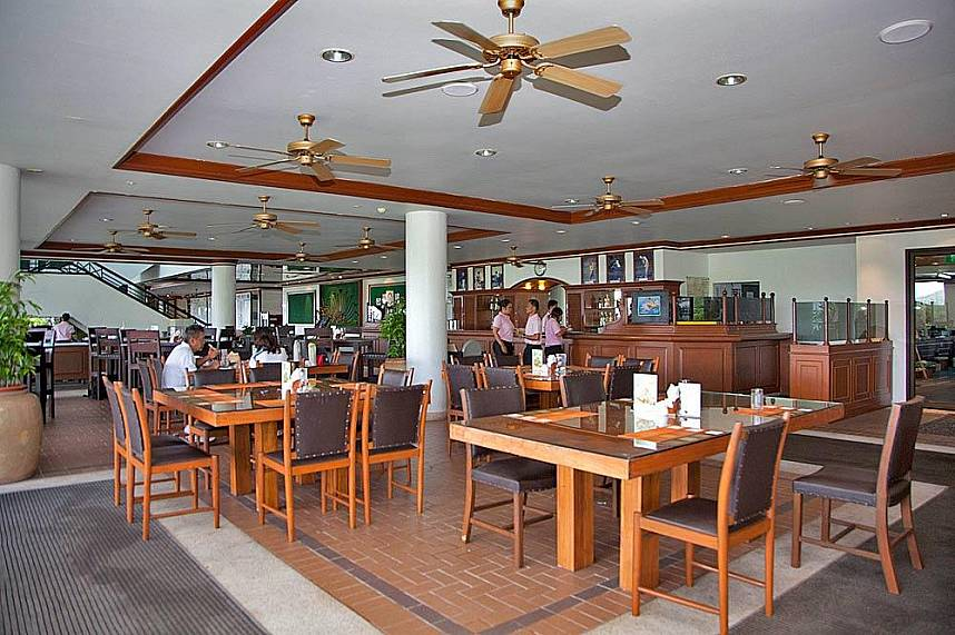 The clubhouse at Blue Canyon Country Club Phuket offers great food