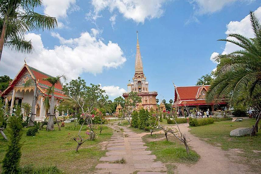 Wat Chaitararam Phuket is the most famous temple in Phuket