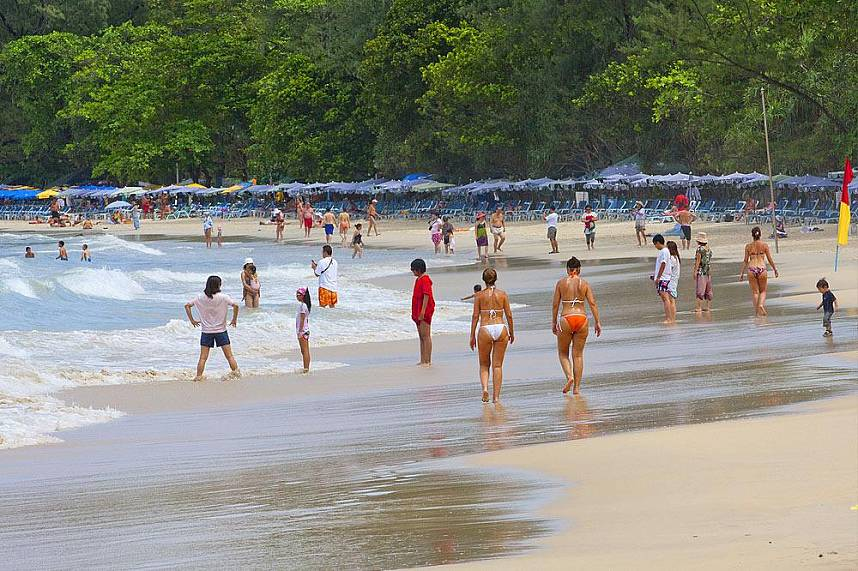 One of the most beautiful beaches is Surin Beach Phuket