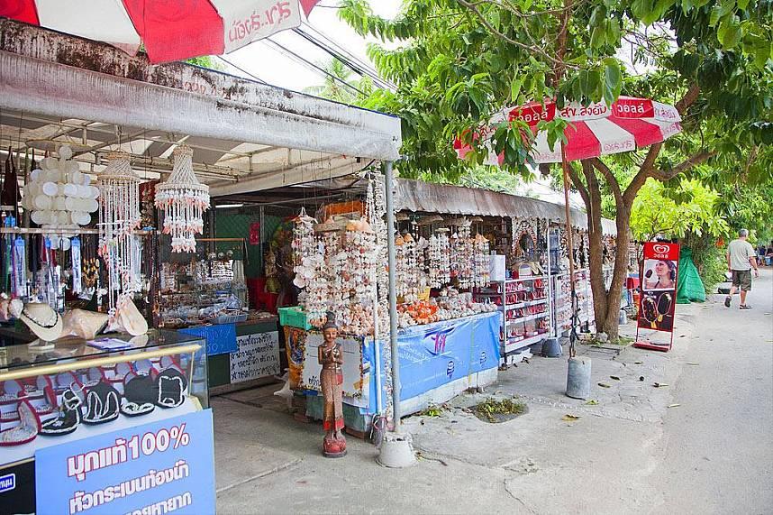 Souvenir shops along Rawai Beach Phuket