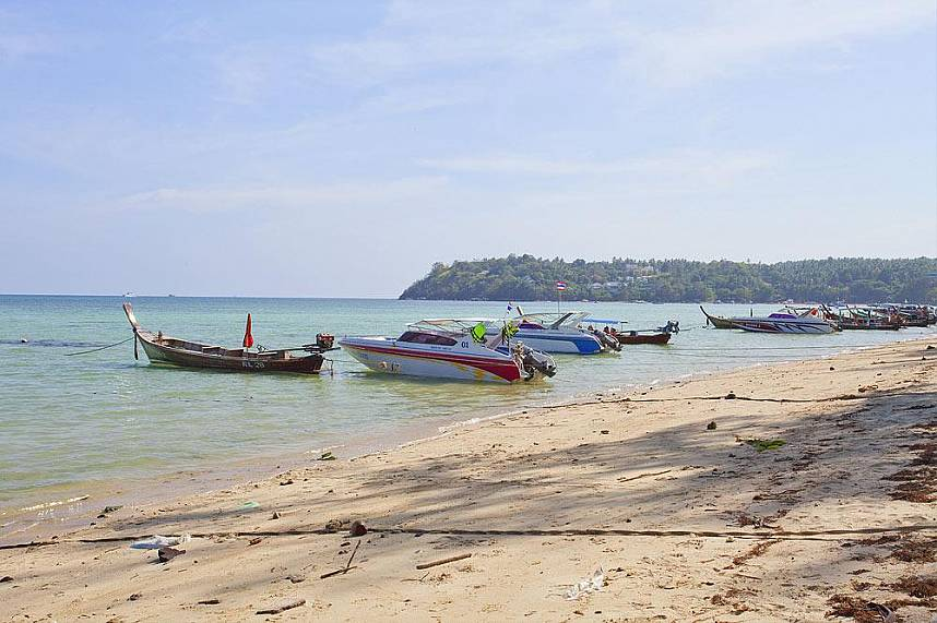 Rawai Beach Phuket with tourist boats