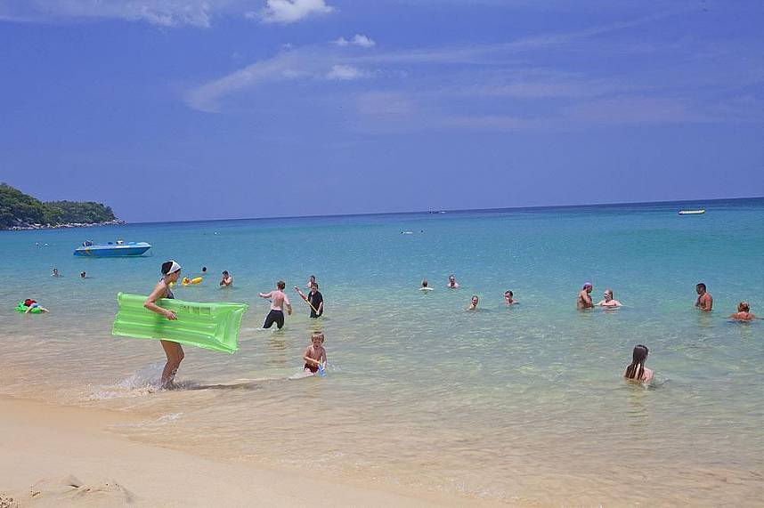 Get a refreshing dip at Karon Beach Phuket