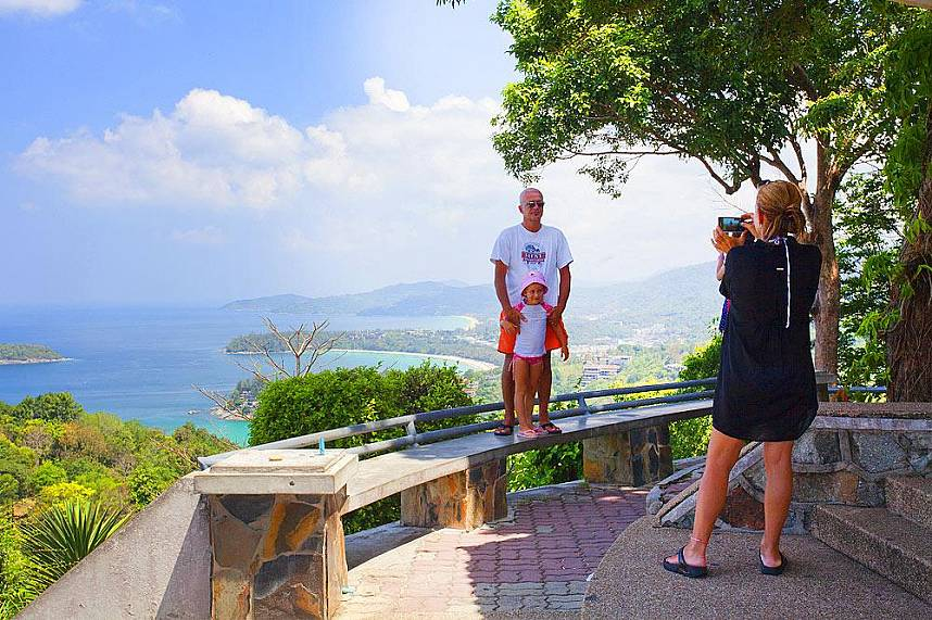 A view point high above Karon Beach Phuket  offers great holiday shots