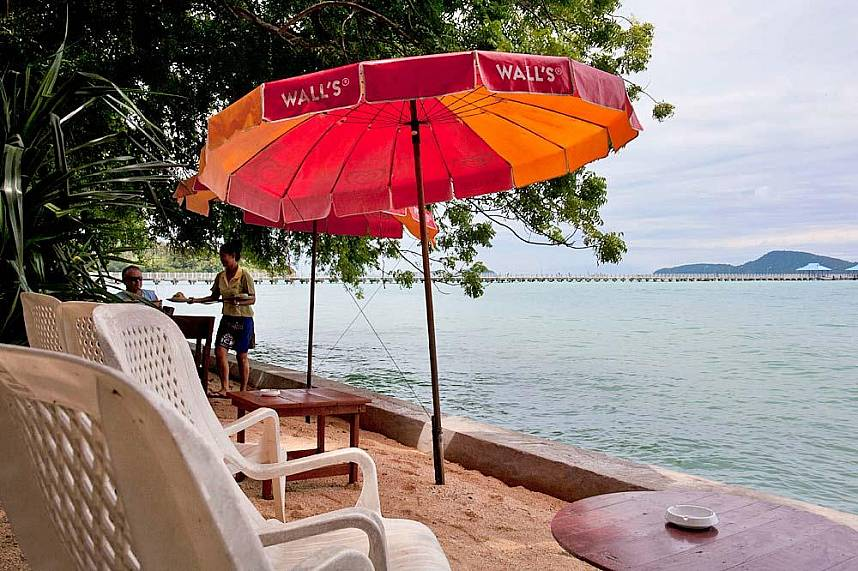 Nikita's Restaurant in Rawai is straight on the shoreline