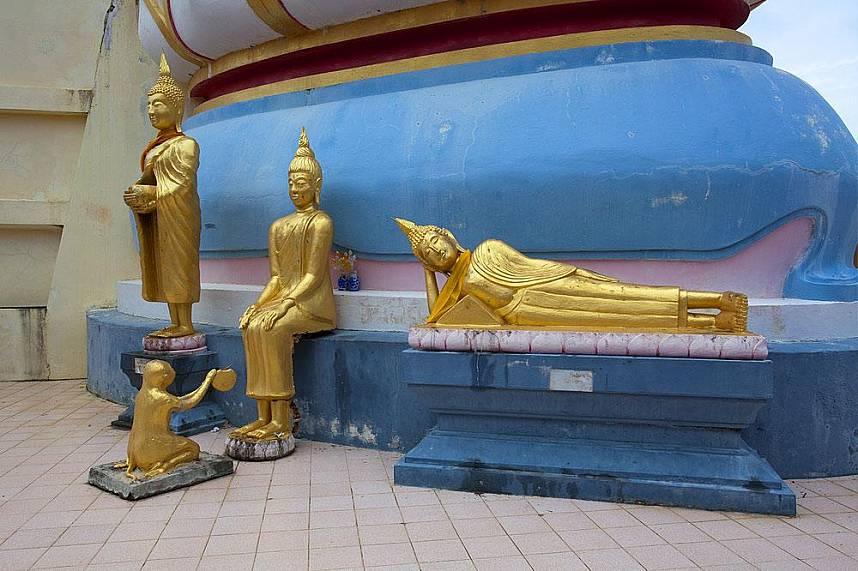 Lovely sculptures at Big Buddha Temple Koh Samui