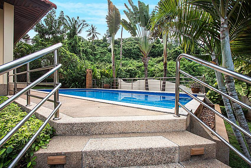 Up the stairs to the pool of Ban Talay Khaw O3
