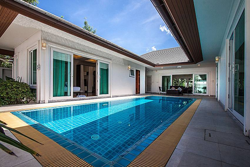 A house with a swimming pool of Kancha villa