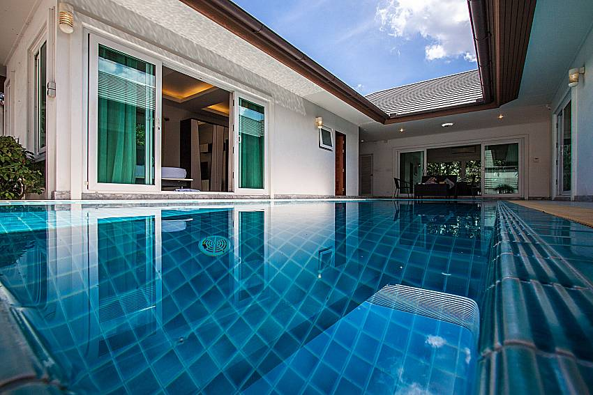 The Pool overlooking the bedroom of Kancha villa