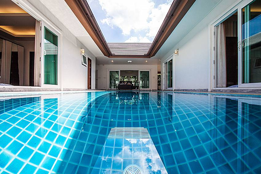 Swimming pool  in the middle of the house of Kancha villa
