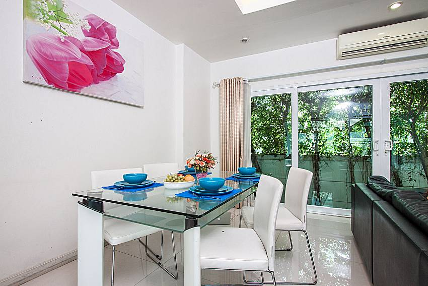 Dinning table see view of Kancha villa