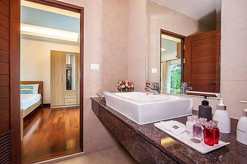 Basin wash in the bedroom of Kancha villa (First)