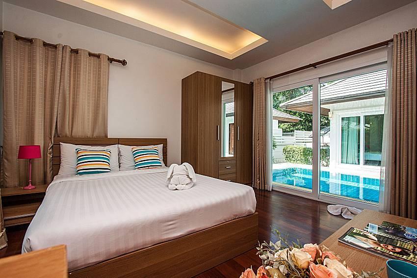 Bedroom overlooking outside of Kancha villa (First)