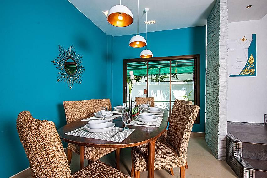 Dinning table in the house of Villa Jairak