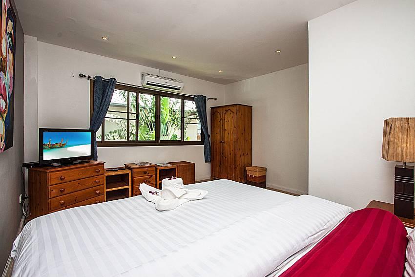 Bedroom with shelves and view of Villa Jairak (Second)