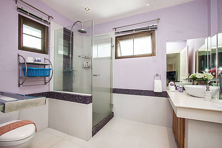 ฺBath mirror with toilet of Villa Jairak