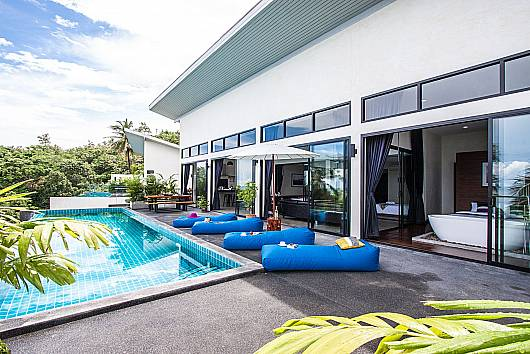 Paritta Sky Villa A - 2 villas with 3 beds each 3 Bedrooms House  For Rent  in Koh Samui