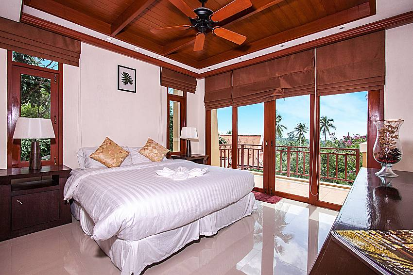 Bedroom overlooking outside of Pailin Garden Palace (Second)