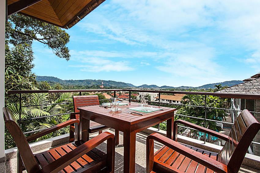 Dinning table overlook scenery of Nirano villa 14