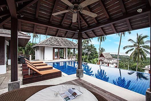 Аренда виллы на Самуи: Baan Saitalay – 3 Bedroom Pool-Villa with Panoramic View, 3 Спальни.  бат в день