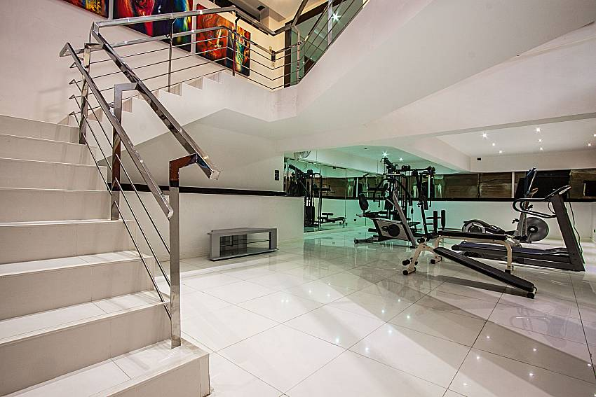 Fitness room under the stairs of Pratumnak Argyle Villa