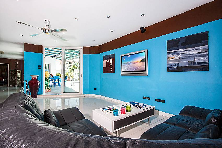 Living room with bright color of Pratumnak Argyle Villa