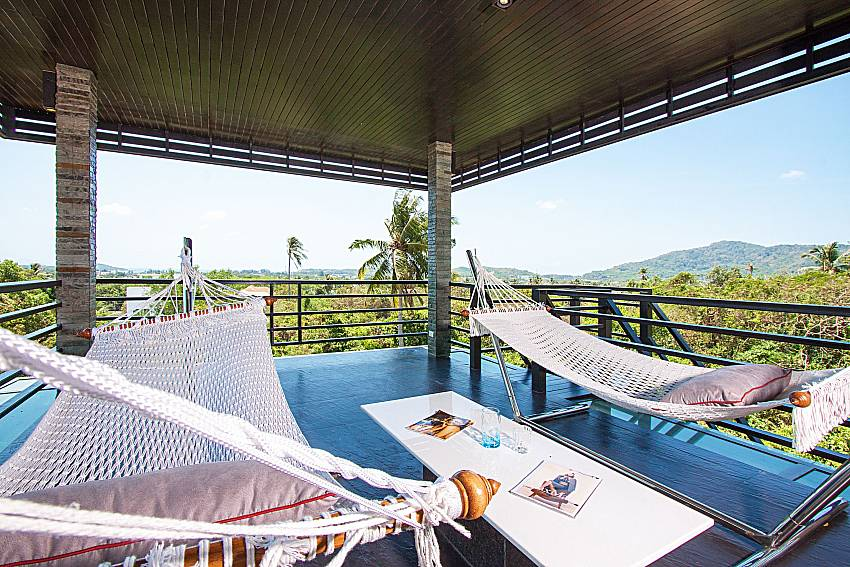 Balcony with hammock Villa Virote in Phuket
