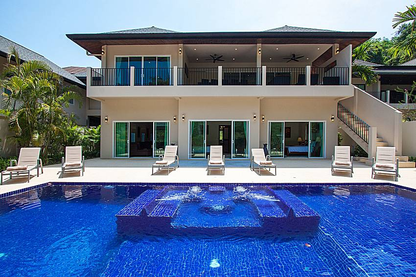 Swimming pool and property Si Mok Villa in Phuket