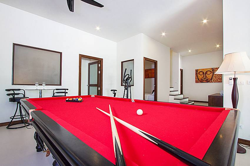Pool table Si Mok Villa in Phuket