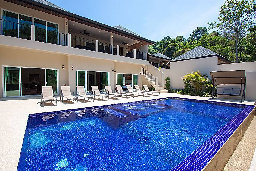 Swimming pool and property Si Fah Villa in Phuket