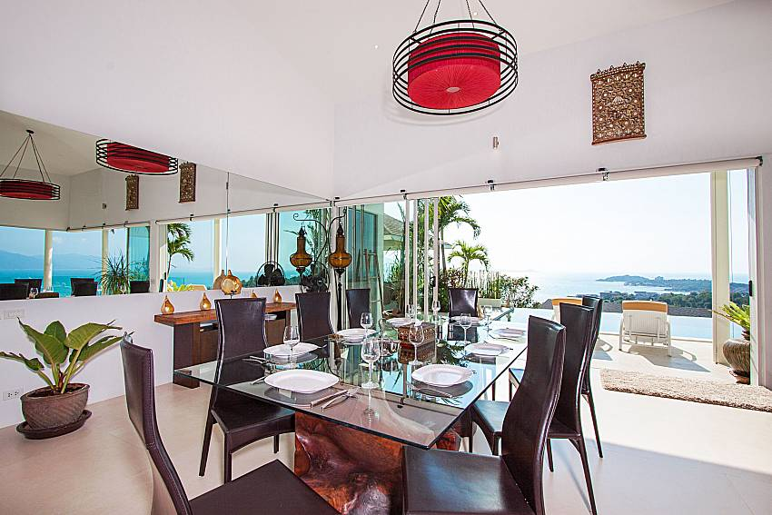 Dinning with sea view Villa Choeng Mon in Koh Samui