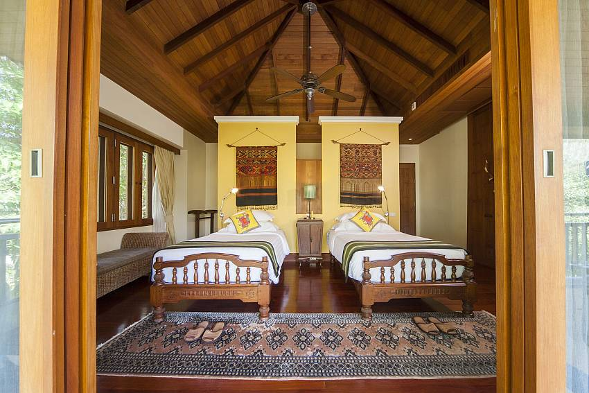 Twin Beds in Villa 3-Asian Rhapsody_infinity pool_5 bed villa_Rawai_Phuket_Thailand